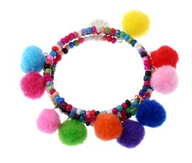 Vogue Crafts and Designs Pvt. Ltd. manufactures Pretty Beaded Multicolor Bracelet at wholesale price.