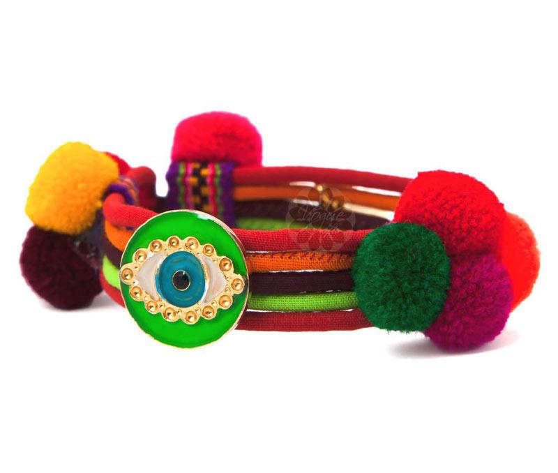 Vogue Crafts & Designs Pvt. Ltd. manufactures Popular Eye Bracelet at wholesale price.