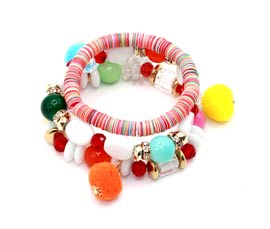 Vogue Crafts and Designs Pvt. Ltd. manufactures Lucky Pom Pom Bracelet at wholesale price.