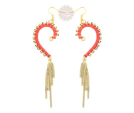 Vogue Crafts and Designs Pvt. Ltd. manufactures Golden Ball Heart Earrings at wholesale price.