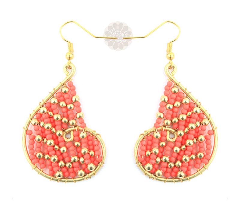 Vogue Crafts & Designs Pvt. Ltd. manufactures Red Heart Earrings at wholesale price.