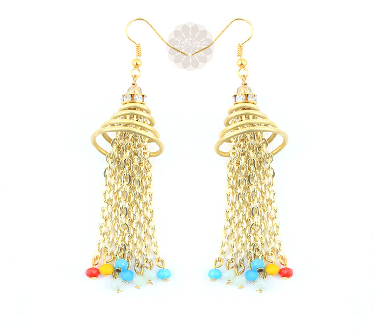Vogue Crafts & Designs Pvt. Ltd. manufactures Perky Chain Earrings at wholesale price.