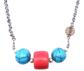 Vogue Crafts and Designs Pvt. Ltd. manufactures Silver ball Multicolor Pendant at wholesale price.