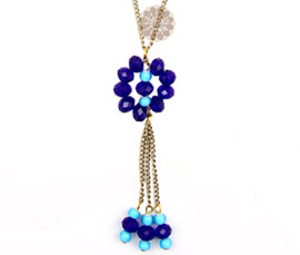 Vogue Crafts and Designs Pvt. Ltd. manufactures Blue Bead Contemporary Pendant at wholesale price.