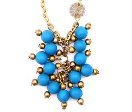 Vogue Crafts and Designs Pvt. Ltd. manufactures Cluster of Blue Beads Pendant at wholesale price.