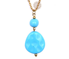 Vogue Crafts and Designs Pvt. Ltd. manufactures Graceful Blue Bead Pendant at wholesale price.