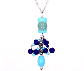 Vogue Crafts and Designs Pvt. Ltd. manufactures Blue Beads Statement Pendant at wholesale price.