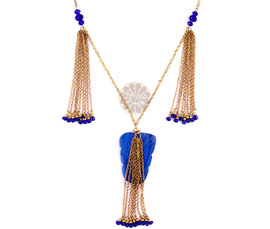 Vogue Crafts and Designs Pvt. Ltd. manufactures Blue and Golden Pendant at wholesale price.
