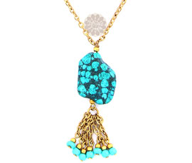 Vogue Crafts and Designs Pvt. Ltd. manufactures Turquoise Stone Pendant at wholesale price.