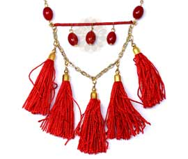Vogue Crafts and Designs Pvt. Ltd. manufactures Soft Tassels Pendant at wholesale price.