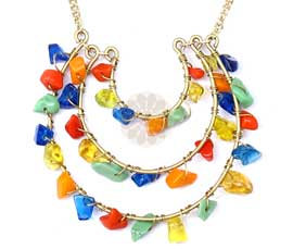 Vogue Crafts and Designs Pvt. Ltd. manufactures Multicolor Bead Pendant at wholesale price.