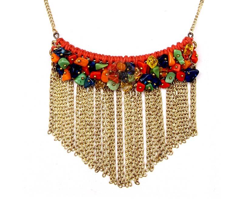 Latest Design Jewelry - Festive Multicolor Dangle Pendant .