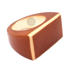 Vogue Crafts and Designs Pvt. Ltd. manufactures Brown and White Ring at wholesale price.