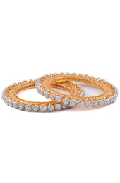 Vogue Crafts and Designs Pvt. Ltd. manufactures Sunflower Shape Golden Brass Bangle at wholesale price.