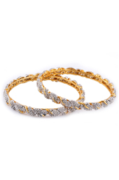 Golden Brass Braid Design Bangles