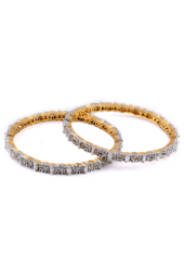 Golden Brass Oval Shape Design Bangles