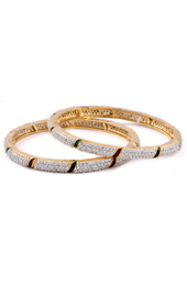 Gloden Brass Bangles With Meenakari