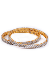 Vogue Crafts and Designs Pvt. Ltd. manufactures Chequered Golden Brass Bangles at wholesale price.