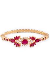 Vogue Crafts and Designs Pvt. Ltd. manufactures Maroon Stone Golden Bracelet at wholesale price.