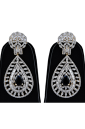Vogue Crafts and Designs Pvt. Ltd. manufactures Brass American Diamond Earrings with Topaz at wholesale price.