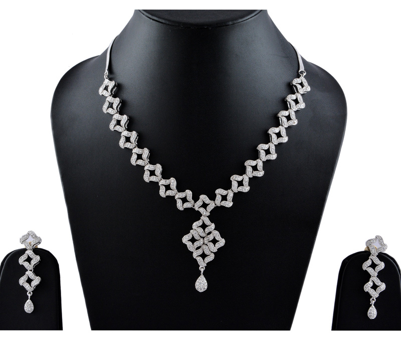 Vogue Crafts & Designs Pvt. Ltd. manufactures American Diamonds Necklace Earrings set  at wholesale price.