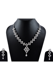 Vogue Crafts and Designs Pvt. Ltd. manufactures American Diamonds Necklace Earrings set  at wholesale price.