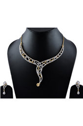 Vogue Crafts and Designs Pvt. Ltd. manufactures  Earrings-Necklace American Diamonds  Set  at wholesale price.