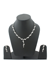 Vogue Crafts and Designs Pvt. Ltd. manufactures The Princess Earrings-Necklace set at wholesale price.