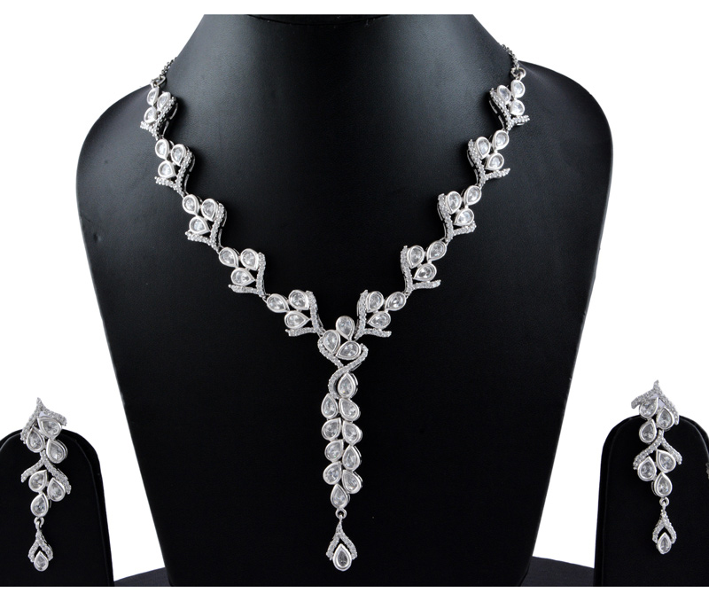 Vogue Crafts & Designs Pvt. Ltd. manufactures Beautiful ME Earrings-Necklace Set at wholesale price.