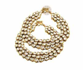 Vogue Crafts and Designs Pvt. Ltd. manufactures Glamorous Stoned Anklet at wholesale price.
