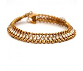 Vogue Crafts and Designs Pvt. Ltd. manufactures Graceful Brass Anklet at wholesale price.