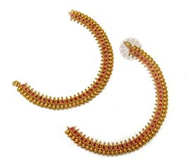 Vogue Crafts and Designs Pvt. Ltd. manufactures Vibrant Red Colored Anklet at wholesale price.