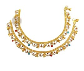 Vogue Crafts and Designs Pvt. Ltd. manufactures Dynamic Red Colored Anklet at wholesale price.