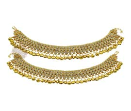 Vogue Crafts and Designs Pvt. Ltd. manufactures The Flamboyant Bells Anklet at wholesale price.