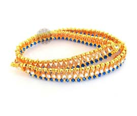 Vogue Crafts and Designs Pvt. Ltd. manufactures Charming Blue Stone Anklet at wholesale price.