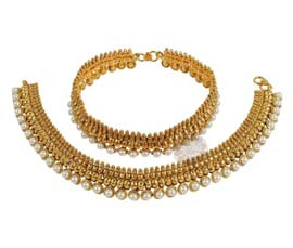 Vogue Crafts and Designs Pvt. Ltd. manufactures Elegant Pearl Anklet at wholesale price.