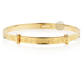 Vogue Crafts and Designs Pvt. Ltd. manufactures Feminine Cuteness Golden Bangle at wholesale price.