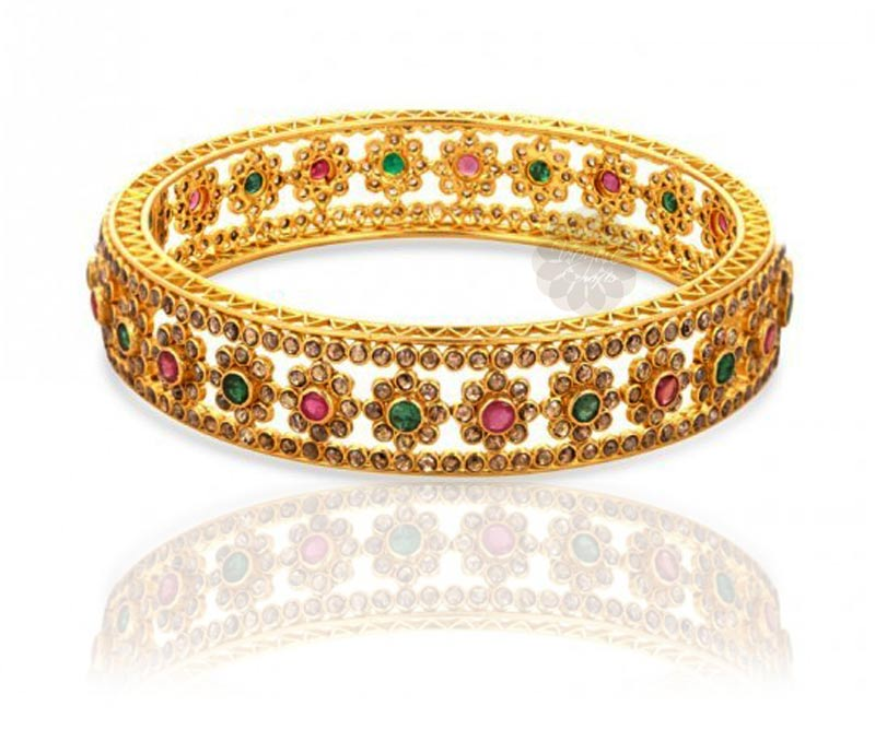 Vogue Crafts & Designs Pvt. Ltd. manufactures Eye-catching Multicolored Bangle at wholesale price.