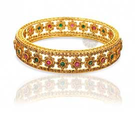 Vogue Crafts and Designs Pvt. Ltd. manufactures Eye-catching Multicolored Bangle at wholesale price.