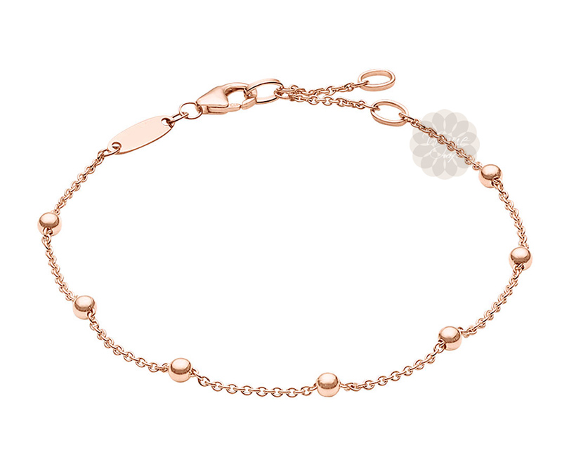 Vogue Crafts & Designs Pvt. Ltd. manufactures Amaze Ball Rose Gold Bracelet at wholesale price.