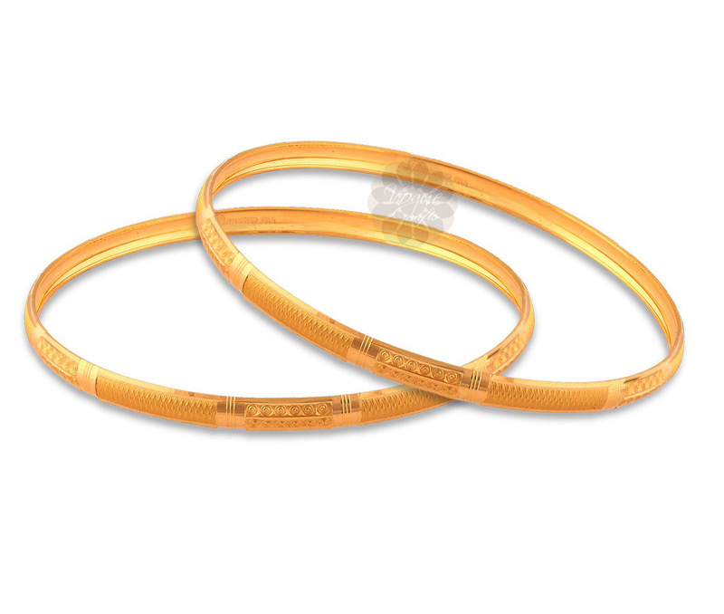 Latest Design Jewelry - Daily Charm Golden Pair of Bangles .