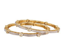 Vogue Crafts and Designs Pvt. Ltd. manufactures Pleasing Vogue Pair of Bangles at wholesale price.