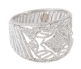 Vogue Crafts and Designs Pvt. Ltd. manufactures Royal Seraphic Cuff at wholesale price.