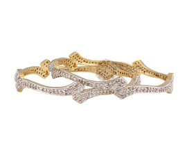 Vogue Crafts and Designs Pvt. Ltd. manufactures Exclusive Sparkle Pair of Bangles at wholesale price.