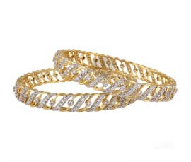 Vogue Crafts and Designs Pvt. Ltd. manufactures Dazzle Galaxy Pair of Bangles at wholesale price.