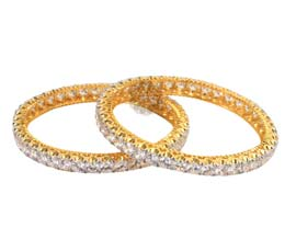 Vogue Crafts and Designs Pvt. Ltd. manufactures Gleam and Glam Golden Bangle at wholesale price.