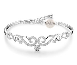 Vogue Crafts and Designs Pvt. Ltd. manufactures Be Social You Silver Bracelet at wholesale price.