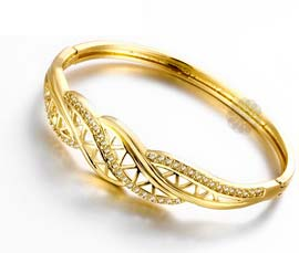Vogue Crafts and Designs Pvt. Ltd. manufactures Grow Attention Gold Bracelet at wholesale price.