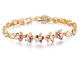 Vogue Crafts and Designs Pvt. Ltd. manufactures Five stone Charmer Bracelet at wholesale price.