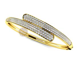Vogue Crafts and Designs Pvt. Ltd. manufactures Tangled Stroke Golden Cuff at wholesale price.